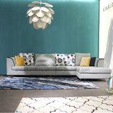 Tecido azul sofá de canto para Home