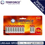 1.5V China Manufacture digitally Primary Alkaline Dry Battery (LR03-AAA 10PCS)