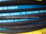 Température élevée / Antiflaming / Caoutchouc résistant au feu le flexible hydraulique