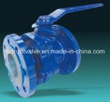Kogelklep van het Eind van het Gietijzer de Van een flens voorzien Met het Opzetten ISO5211 Stootkussen