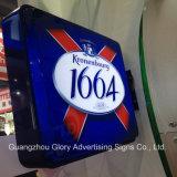 Caja de luz publicitaria termoformada rectangular / rectangular