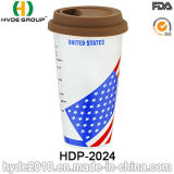 BPA geben Plastikkaffeetasse mit Kappe frei (HDP-2024)