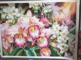 Pitture a olio Handmade del fiore su tela di canapa