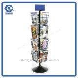 Rotação do piso 16-fio de Bolso Magazine Exibir Rack com Plataforma de OEM