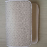 Tapis de bain blancs ordinaires blanc personnalisables imprimables de salle de bains de toilette de douche