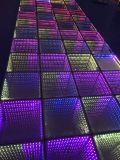 Tuile de panneau d'étage de danse d'abîme de miroir de DEL 3D