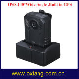 법의 집행 IR 야간 시계 IP65 가득 차있는 HD 1080P 경찰 바디에 의하여 착용되는 사진기 기록병