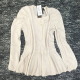 Camisola da caxemira para a luva longa quente das vendas 12gg das mulheres