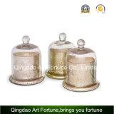 Vela Perfumada fragrância cor no vidro pulverizado Cloche Misturador com Etiqueta colorida para decoração