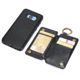 Nouveau Style multi fonction prix d'usine Cuir véritable Samsung Galaxy S8 Titulaire de l'affaire avec des cartes