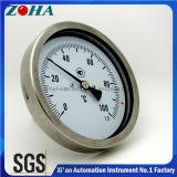 Thermomètre bi-métal en acier inoxydable avec raccord arrière