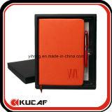 Cuaderno A5 Impreso con la pluma y la caja de regalo Set