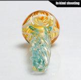 Tubos de mão Tubos para fumar em vidro Colher DAB Wax