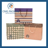 Bolsa de papel regalo decorativos con alta calidad de impresión de cuadrícula barato Fabricante (GPBB-DM-100)
