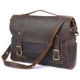 """Новые поступления хорошее соотношение цена 14"""" сумка для ноутбука Crazy Horse коричневого цвета кожи Messenger для мужчин"""