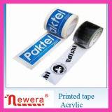Cinta adhesiva de acrílico impresa gráfico del embalaje de la goma de BOPP