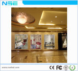 Visualización de pantalla transparente del alto brillo LED de la ventana de cristal de la visualización de LED de P7.5mm