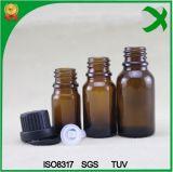 Flacon compte-gouttes de verre bouteille d'huile essentielle d'Ambre Flacon en verre brun