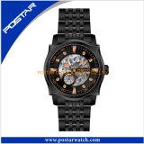 Новейшая Мода часы Stainess стальной корпус назад автоматическая часы