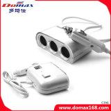 Carregador USB Tomadas Múltiplas Smocking Adaptador para saída de divisor de cigarros mais leve