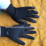 """10g """"мятым"""" эффектом с покрытием из латекса перчатки защитные рукавицы работы завода вещевого ящика"""