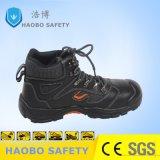 Мужчины стали из натуральной кожи с поддержкой TOE PU единственной безопасности рабочая обувь