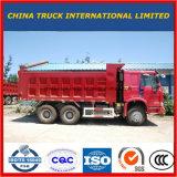 중국 팁 주는 사람 Sinotruk HOWO 266HP 6*4 덤프 트럭