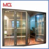 Três painéis de porta corrediça de empilhamento de alumínio porta SANFONA