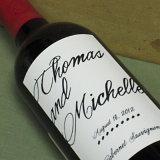 Оптовый изготовленный на заказ стикер вина печатание для бутылок