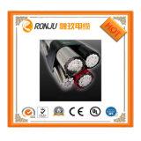 Trois principaux isolation en polyéthylène réticulé de fil de cuivre de blindage des câbles électriques souterrains