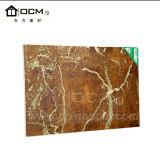 Chapa de PVC laminado de mármol y decoración de papel tapiz de la Junta de MGO