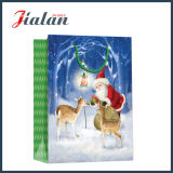 Подгоняйте мешок подарка упаковки рождества отца бумаги цвета слоновой кости работая бумажный