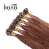 De Bruine Kleur van de Uitbreiding van het Haar van de hoogste Kwaliteit het u-Uiteinde van 18 Duim Haar