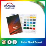 Catalogo di scheda stampato personalizzato di colore di carta