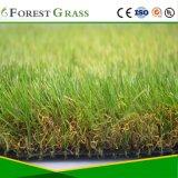 3 음색 20mm 간격을%s 가진 모든 녹색 등뼈 모양 인공적인 잔디밭