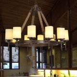 Amerikanisches Art-Eisen-rundes Säubern-hängende Lampe