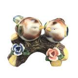 De veelkleurige Verglaasde Ceramische Decoratieve Tuin en het Huis van Vogels