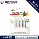 (AA/HR6) bateria longa da vida de serviço do hidruro recarregável do metal niquelar 1200mAh com o Ios9001 para o microfone