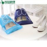 Ver el bolso no tejido interior de los zapatos del lazo de la bolsa del polvo de la cadena del tirón
