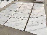 装飾のための中国自然なか磨かれたGuangxiの白い大理石のタイル