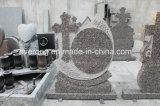 Stlye popolare in Headstone naturale europeo di coltivazione a frana del granito per le tombe