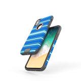 Anti caixa resistente híbrida do telefone de choque TPU com tela da listra para o iPhone X