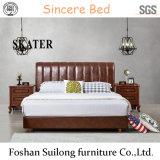 현대 미국식 침실 침대 가죽 침대