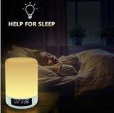 침대 곁 램프 Bluetooth 스피커 Dimmable 색깔 밤 빛 4 수평 광도 6 색깔 변화