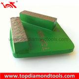 Алмазные шлифовальные трапеции пластина с 2 сегментов для полировки конкретные