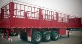 3つの車軸農産物の輸送の側面の棒のタイプ農業の実用的なトラックのトレーラー