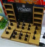 Kundenspezifische kreativer Knall Acryl-MDF-Uhr-Bildschirmanzeige, Acrylcountertop-Uhr-Bildschirmanzeige-Zahnstangen-Fabrik China