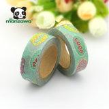 Cmykの印刷の喜劇的なスピーチの泡デザイン装飾的な粘着性があるテープを覆う多彩なWashiのペーパー接着剤