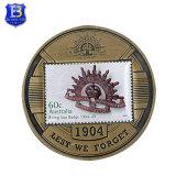 旧式な銀製の世界大戦の記念品の硬貨