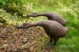 Polyresin/jardim da escultura do pato ferro de molde e decoração Home